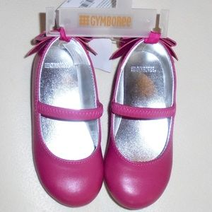 Gymboree Girls Pink Bow Shoes Size 7 NEW